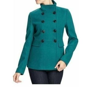Old Navy Women's Teal Pea Coat Small